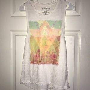 Fifth Sun tank with summer print